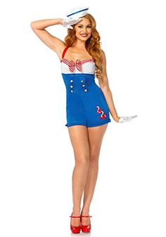 Leg Avenue Women's 2 Piece High Seas Honey Sailor Costume, Multi, X-Small #Sailor Halloween Costumes Toddler Costumes, Adult Costumes, Costumes For Women, Sailor Halloween Costumes, Carnival Costumes, Spirit Halloween, Sailor Fancy Dress, Leg Avenue Costumes, Captain Costume