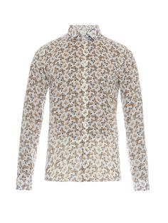 Butterfly-print cotton shirt | Richard James | MATCHESFASHION.COM UK