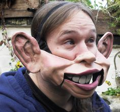 The Amazing Cable Controlled Professional Big Eared Ventriloquist Mask.
