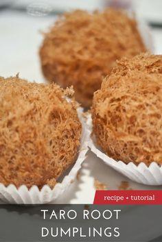 How to Make Taro Root Dumplings - Making Dim Sum at Home - Make up augen Asian Snacks, Asian Desserts, Asian Recipes, Chinese Desserts, Dim Sum, Taro Root Dumpling Recipe, Taro Recipes, Recipes, Asian Food Recipes