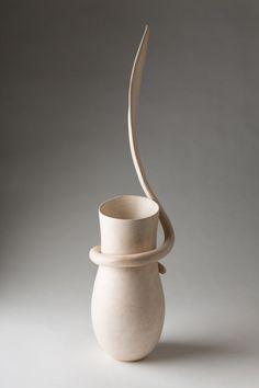 white - vase - Blade -  ceramic - Tina Vlassopulos