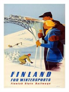 Finland Travel, Travel Posters, Ski, Poster Prints, Canvas Prints, Winter, Movie Posters, Image, Scandinavian