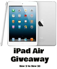 Win An Apple iPad Air  #Giveaway via #AuhYes - Hurry & Enter