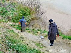 Senior Old Couple Walking Nature Fresh Air, Outdoor People Active Person Stock Image - Image of forest, females: 63368969 Couples Walking, Old Couples, Forest Road, Walking In Nature, Stock Photos, Woman, Pets, Beach, People