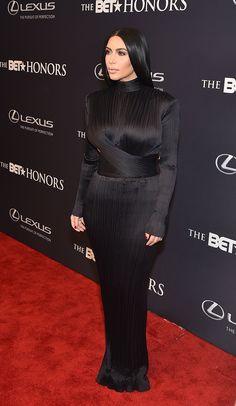 Kim Looked Fierce in Her Balmain Dress