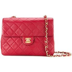Chanel Vintage quilted shoulder bag ($4,527) ❤ liked on Polyvore featuring bags, handbags, shoulder bags, red, shoulder handbags, vintage purses, red handbags, vintage handbags and chanel purse