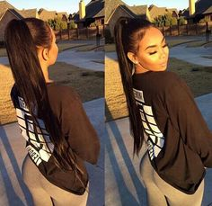 34 Ideas hairstyles baddie long 34 Ideas hairstyles baddie long Soft, shiny, silky and well-groomed hair is our dream. Hairstyles For School, Summer Hairstyles, Trendy Hairstyles, Black Hairstyles, Baddie Hairstyles, Ponytail Hairstyles, Woman Hairstyles, Latina, Curly Hair Styles