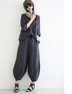 Plus Fours, Linen Blouse, Women Pants, 30th, Harem Pants, Normcore, Casual, Style, Fashion