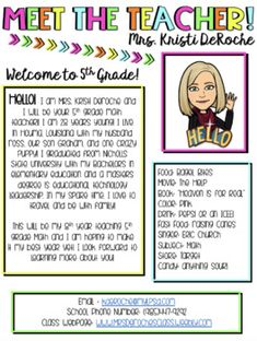 Meet The Teacher Newsletter Bitmoji Theme