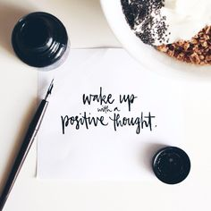 """A great way to start the day! """"wake up with a positive thought"""" #eventprofs #wordsofwisdom"""