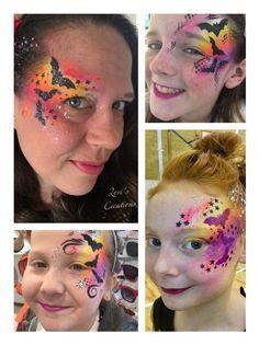 Halloween Face Paint Designs, Face Painting Designs, Body Painting, Halloween Office, Halloween Fun, Cute Bat, Maquillage Halloween, Body Art, Facial