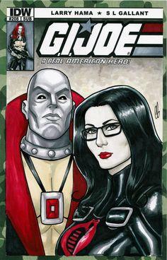 G.I. Joe Baroness Destro Cobra Sketch Cover by BigChrisGallery
