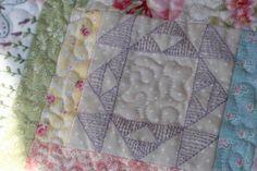 Butterfly Garden Block of the Month Quilt: Butterfly Garden - Close Up