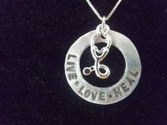 Nurse Necklace, Stethoscope Necklace, Live Love Heal, RN Necklace, LPN Necklace, Nurse Graduation, Nurse Gift on Etsy, $35.00