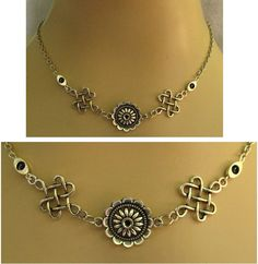 Silver Celtic Knot Flower Necklace Jewelry Handmade NEW Fashion Accessories #handmade