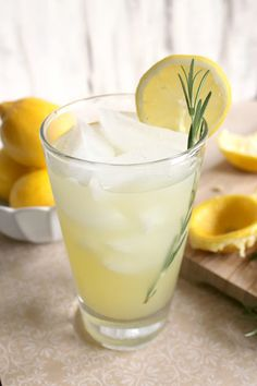 Vanilla-Rosemary Lemonade. Haven't tried this recipe yet, but lavender is in the rosemary family. Culinary lavender could be used in place of the rosemary - just an option.