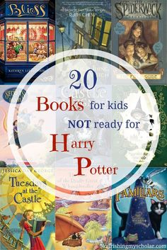 20 Books for kids NOT ready for Harry Potter: what if your child isn't ready for Harry Potter? What books are similar but for a younger audience? I've scoured the internet looking for great fantasy adventure books, alike to the famous Harry Potter series, Kids Reading, Teaching Reading, Reading Books, Reading Lists, Autism Teaching, Reading Time, Teaching Tools, Classe Harry Potter, What Book