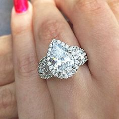 Pears elongate your fingers and are this years hottest trend #Pear #Engagement #GabrielNY #GabrielCoRetailer #ABRYANS