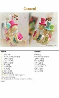 crochet tutorial for snail ♥