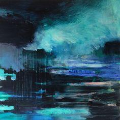 """ Sea Landscape "" Acrylic on canvas, 100 x 100 cm, Bjørnar Aaslund, 2015"