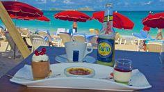 Café gourmand at Kontiki beach #sxm #saintmartin #orientbay