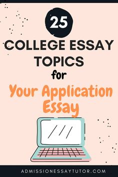When selecting a college essay topic you don't need to choose a scholarly topic or some world-shattering event. The admissions officer doesn't want a lesson in history or social economics, but rather wants to learn about you as a person. Here you will find examples of the best essay topics and a step-by-step workshop tutorial to teach you how to write an outstanding college application essay. #CollegeApplicationEssay #CollegeEssayExamples #EssayTopicsforCollege Good Essay Topics, College Essay Topics, Best College Essays, College Essay Examples, College Admission Essay, College Application Essay, Writing Topics, Teaching Writing, Teaching Science