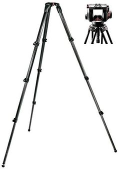 Manfrotto 509HD Video Head with 536 Carbon Fiber Tripod Legs ** Learn more by visiting the image link.