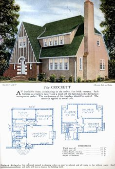 Mod The Sims - 1920's Vintage Home Design ~ the Crockett, a Tudor Revival - Finale of the Series Step Shelves, Brick Arch, Cottages And Bungalows, Smoke Alarms, I Wallpaper, Tudor, Sims, House Plans, Floor Plans