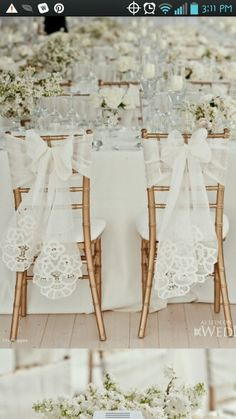 Chairs and bows at the reception  Somethingvintage.com.au