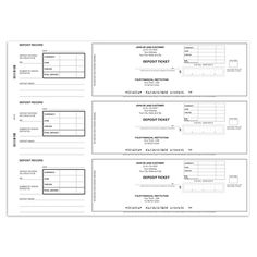 3 To a Page Business Deposit Slips - Walmart Checks