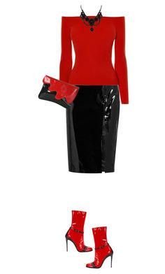 """Patent Leather"" by marion-fashionista-diva-miller ❤ liked on Polyvore featuring Topshop Unique, Karen Millen, Gucci, Luciano Padovan, patentleather and contestentry"