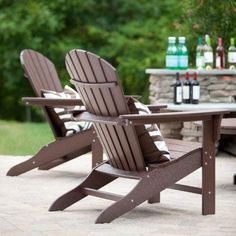 Top-Rated Adirondack Chairs For Your Outdoor Patio! Discover the top-rated outdoor Adirondack chairs made out of wood, polywood, and more materials. Rustic Adirondack Chairs, Adirondack Rocking Chair, Outdoor Chairs, Outdoor Furniture, Wood Folding Chair, Vintage Lanterns, Cape Cod, Backyard, Patio