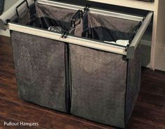 Quilted Pullout Hamper, Chrome   California Closets Twin Cities