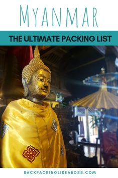 Travel tips - Packing list guide for Myanmar. Preparing for a trip to Myanmar or Southeast Asia? Check this ultimate packing list for Myanmar to make sure you come prepared! What clothes to pack for Myanmar? | What shoes to pack for your trip to Myanmar?