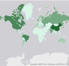 Energies renouvelables : Voici une carte qui montre les pays leaders!