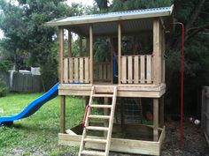 Timber cubby house and forts by leading Australian home and outdoors company, Matt's Homes 1300 62 88 77