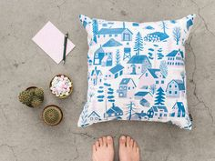 KAUNISTE AUTUMN WINTER 2016 Our newest pattern for autumn and winter is a flower print called Potpourri. Potpourri comes originally from French language, and it is a mixture of dried flowers used to create a fragrance and ambiance to the home. Blue Cushions, Printed Cushions, Like Instagram, Instagram Posts, The Flowers Of Evil, Blue Cushion Covers, Silk Screen Printing, Little White, Organic Shapes