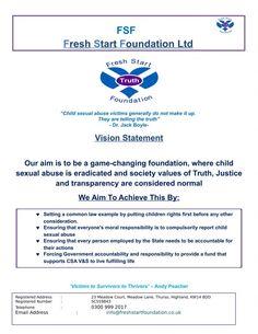 Fresh Start Foundation Roadshow Launch Press Event October 26th SYHA Edinburgh