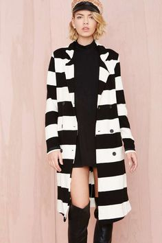 Show Your Stripes Trench | Shop What's New at Nasty Gal