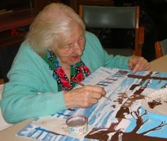 How Art Helps Dementia Patients   We know art stimulates the senses. And it also gives us something to talk about. Art therapy has those same effects on dementia patients, leading different museums across the country to develop programs aimed at people suffering from Alzheimer's or dementia.