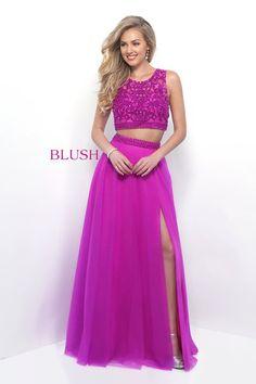 78181568e5e Blush Prom 11318 Magenta Two-Piece Prom Dress. Sara Loree s Bridal