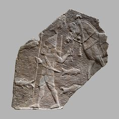 "This relief fragment dates to the time of the Assyrian king Sennacherib (r. 704-681 B.C.), and comes from the great Southwest Palace, called by Sennacherib the ""Palace Without Rival,"" at Nineveh in northern Iraq"