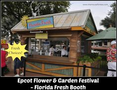 Epcot's Flower and Garden Festival Florida Fresh Outdoor Kitchen Food Booth Menu #Epcotinspring #FlowerandGarden #wdw