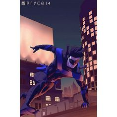 Nightwing progress.  Driving myself crazy tweaking brightness, saturation, etc #nightwing #dccomics #comics #wip