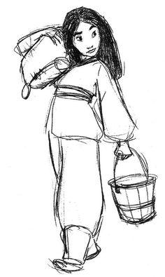 Concept art for Mulan