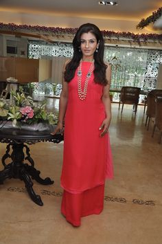 Raveena Tandon looks effortlessly elegant in this red outfit by Anita Dongre. Like?
