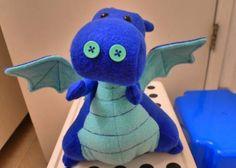 Dragon stuffie--I love this little fatty and the colors on this one are wonderful! I want to hug him.