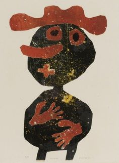Jean Dubuffet, Carrot Nose (Nez carotte)  1961, published 1962, lithograph.  Exhibit at MoMA 2015