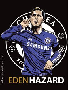 Eden Hazard Vector Potrait Football Player | Fredtezar