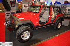 #Jeep Wrangler sans doors at #SEMA 2011